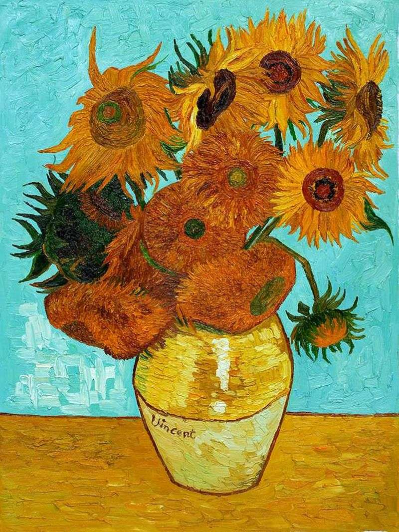van goghs sunflowers Sunflowers by sunflower lily find this pin and more on preschool art history by linda taylor to go with thw class door flower van gogh and preschool art project may classroom door have kids write their names in the center of the flowers.