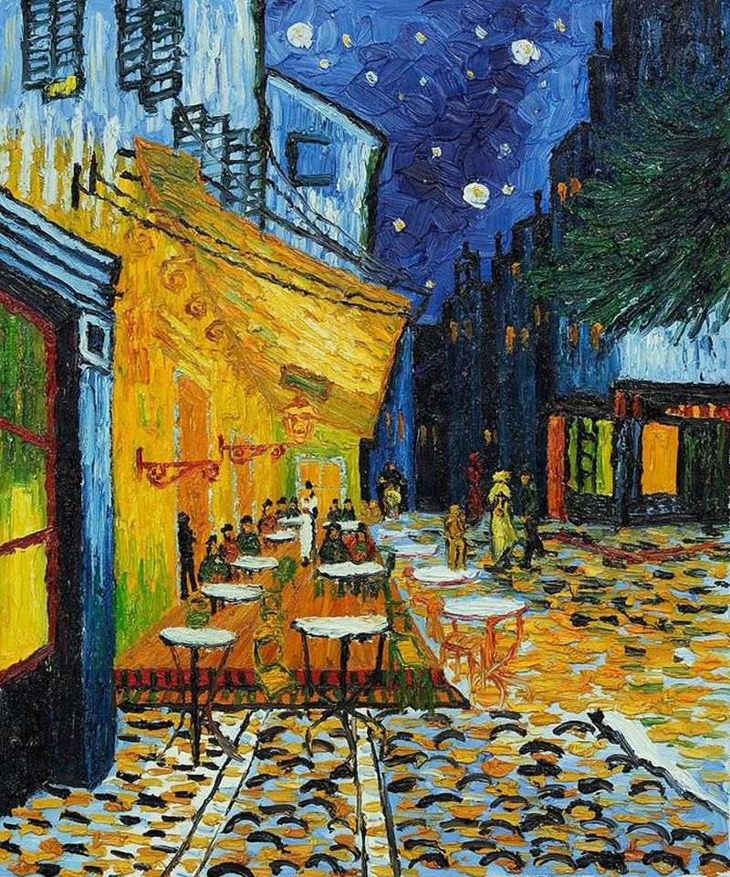 Description Of The Painting Cafe Terrace At Night By