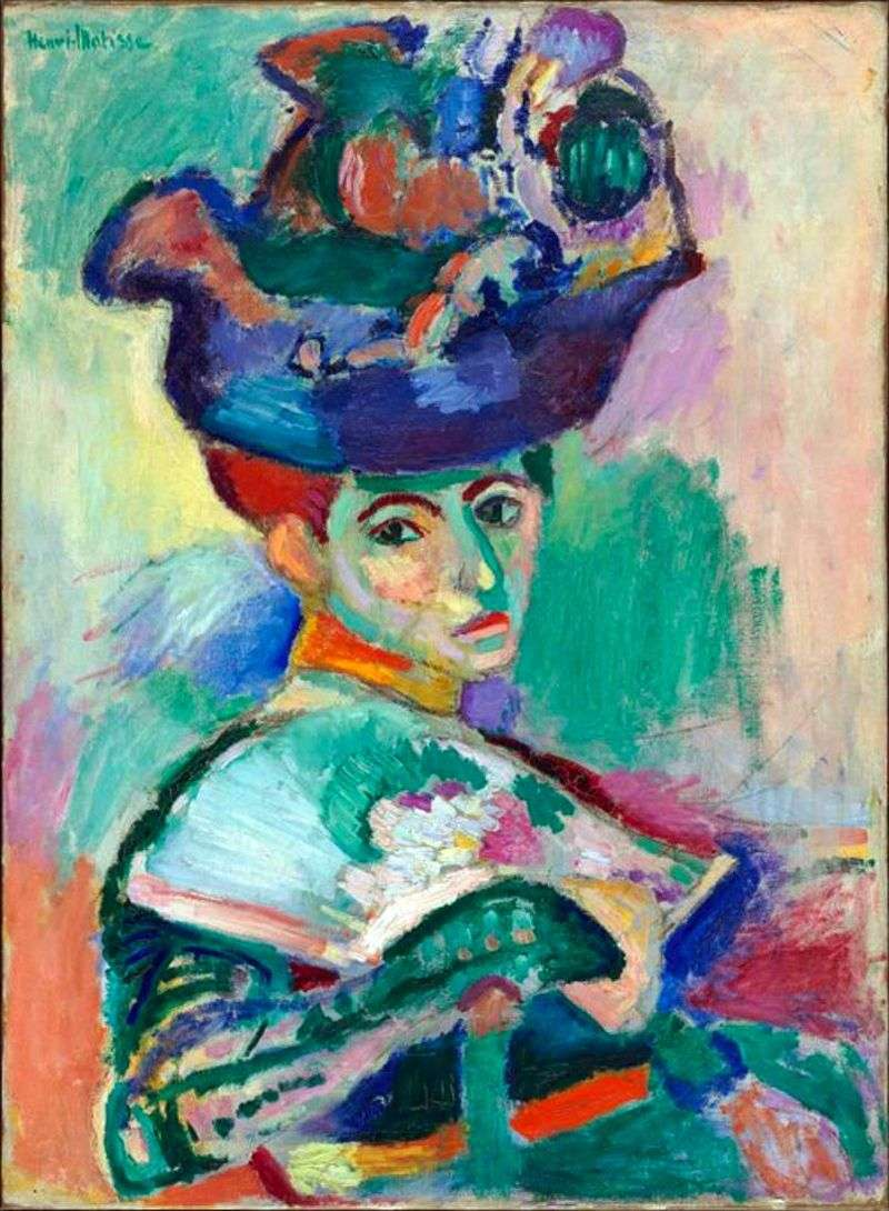 Woman with a Hat by Henry Matisse