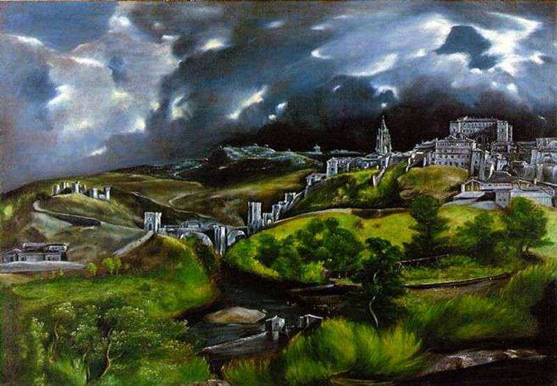 """an assessment of the painting the view of toledo by el greco """"el greco in new york"""" is on view at the metropolitan museum of art, new york, nov 4, 2014–feb 1, 2015 a contemporaneous exhibition is also on view at the frick collection a contemporaneous exhibition is also on view at the frick collection."""