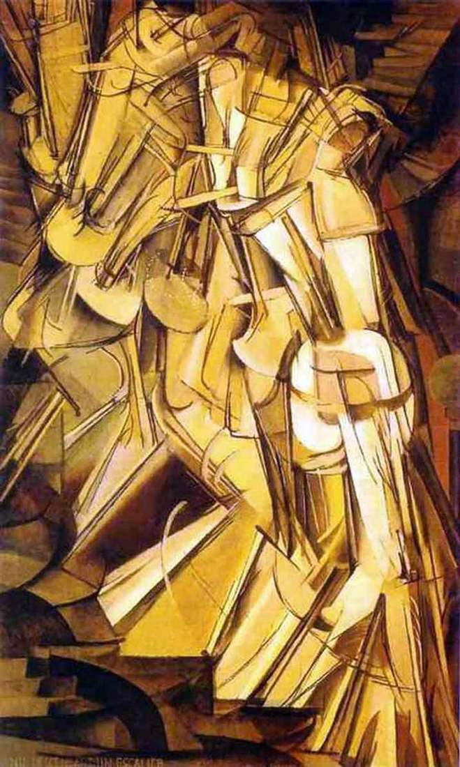 Nude Descending a Staircase by Marcel Duchamp