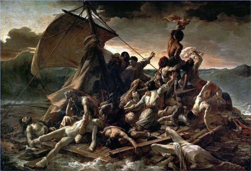 Raft of the Medusa by Teodor Gericault