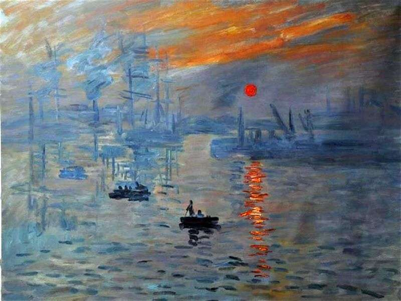 an analysis of the impressionist style of painting in the monets impression the sunrise Claude monet impression sunrise painting, a masterpiece of our time about the painting the renowned claude monet's impression sunrise painting was born inside the artist's bedroom in 1872 while the sun was just about to announce its presence to the world.