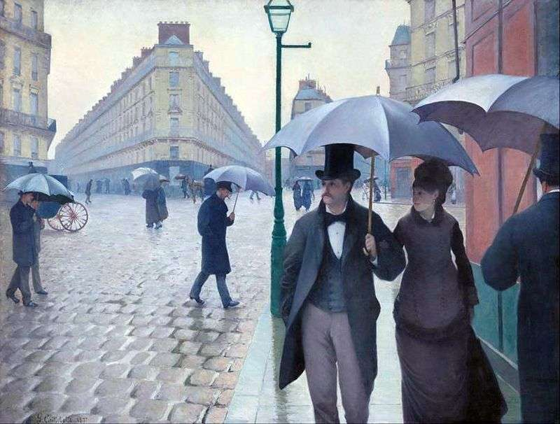 Paris Street Rainy Day by Gustav Caillebotte