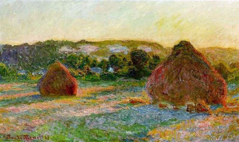 Haystack by Claude Monet