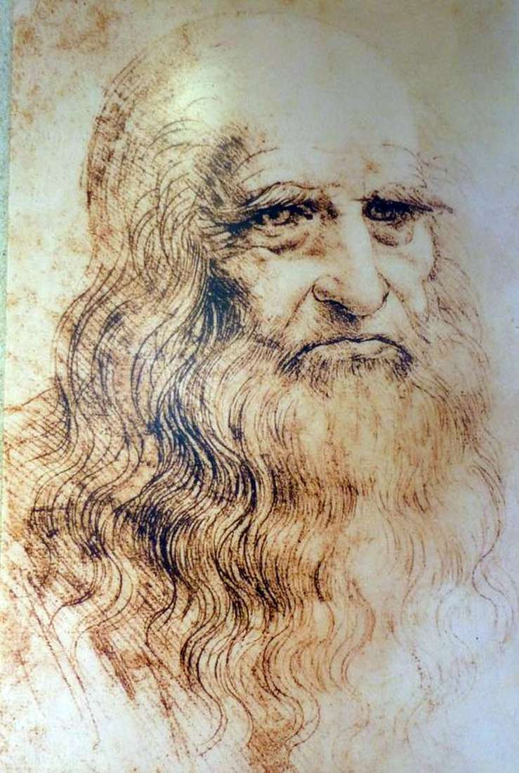 Self Portrait By Leonardo Da Vinci