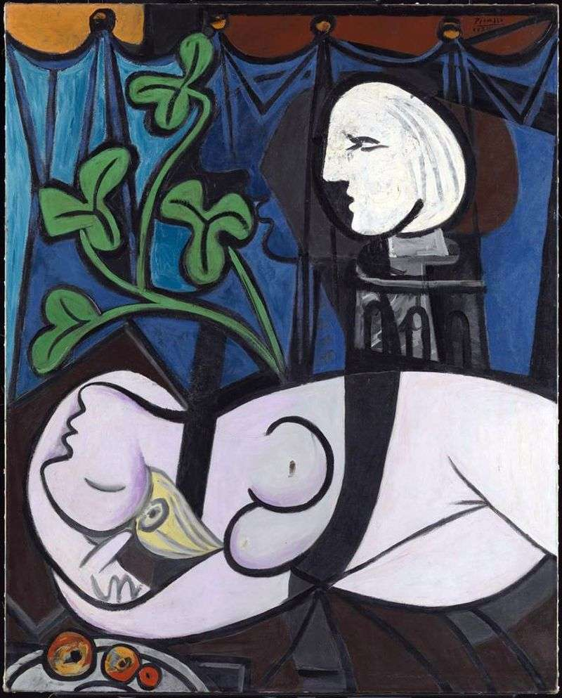 Nude Green Leaves and Bust by Pablo Picasso