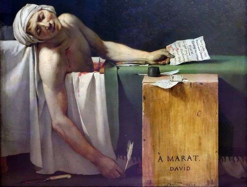 Death of Marat by Jacques Louis David
