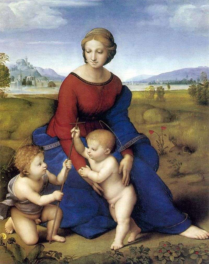 Madonna of the Meadow by Raphael Santi