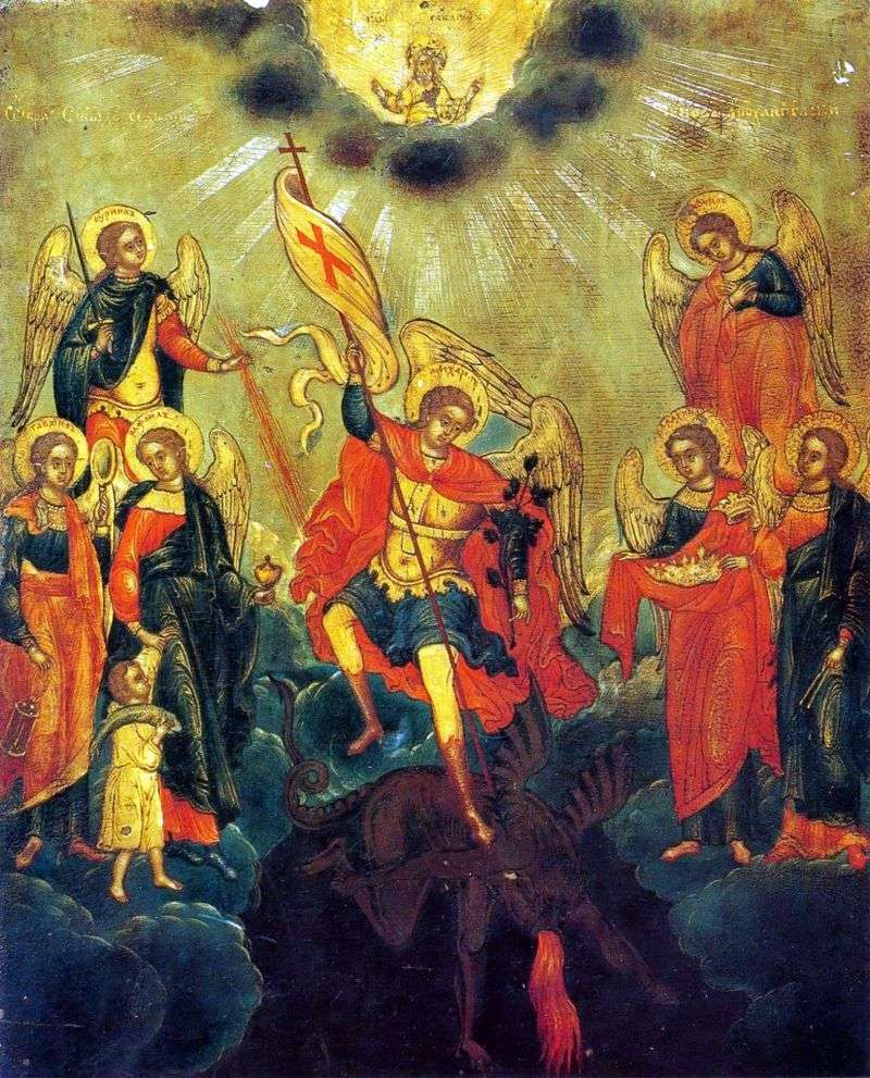 The image of the holy seven ranks of Arkhangelsk