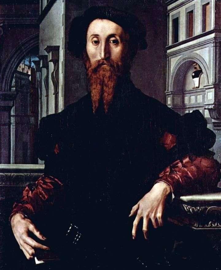 Portrait of Bartolomeo Panchatiki by Agnolo Bronzino