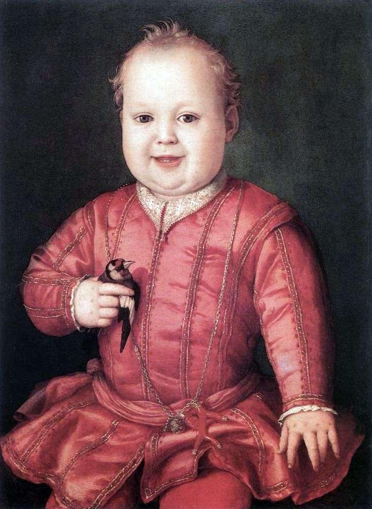 Portrait of Giovanni Medici by Agnolo Bronzino