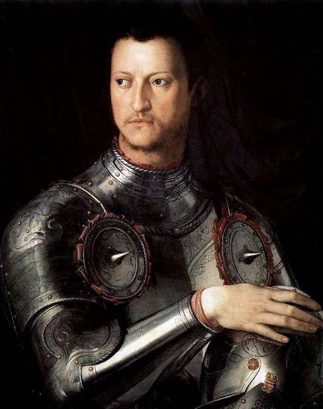 Portrait of Cosimo the First Medici in armor by Agnolo Bronzino