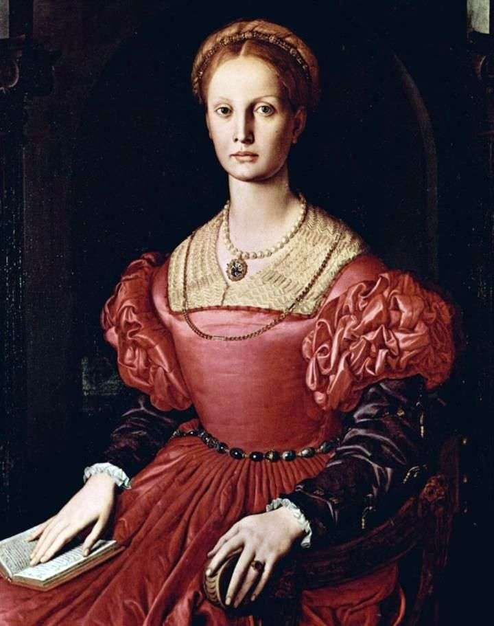Portrait of Lucrezia Panchatiki by Agnolo Bronzino