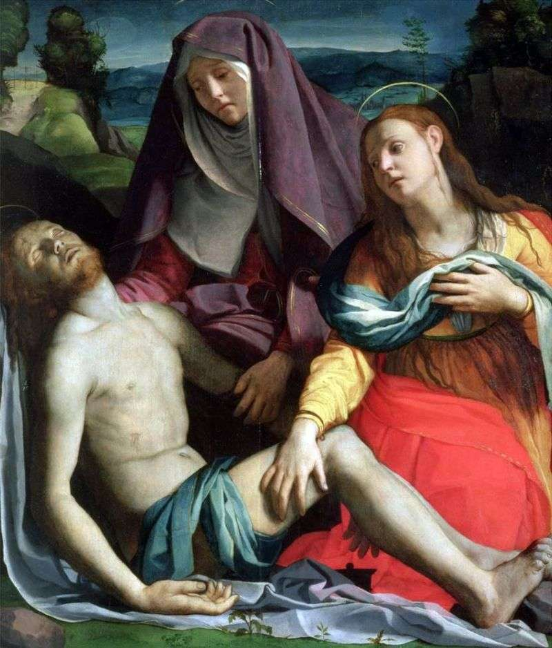 Dead Christ with the Mother of God and Mary Magdalene (Pieta) by Agnolo Bronzino