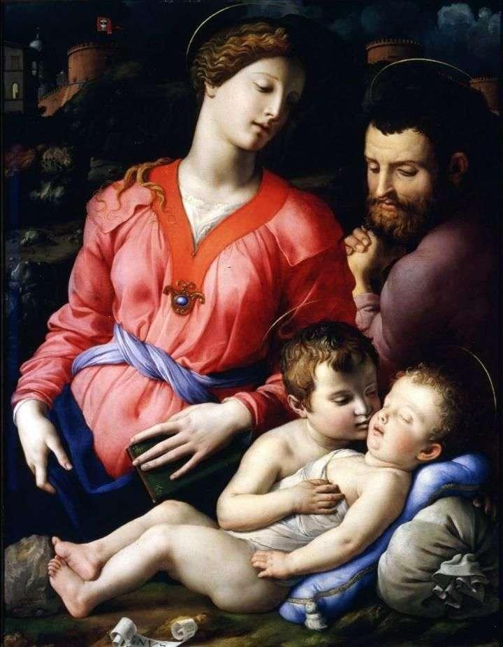 The Holy Family of Panchyatika by Agnolo Bronzino
