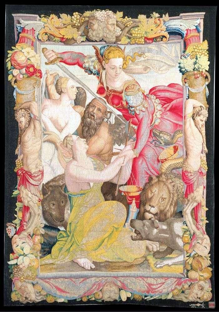 Justice, liberating Innocence by Agnolo Bronzino