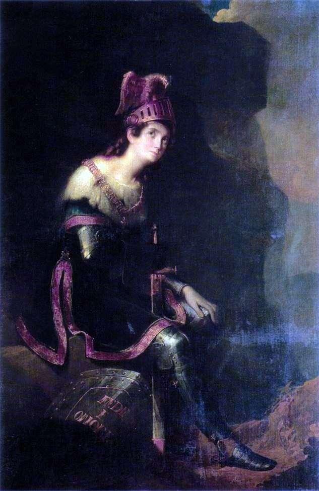 Portrait of ZA Volkonskaya by Fyodor Bruni