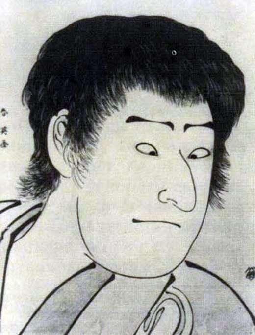 Portrait of actor Savamura Sodzyuro III   Katsukawa Sjunse