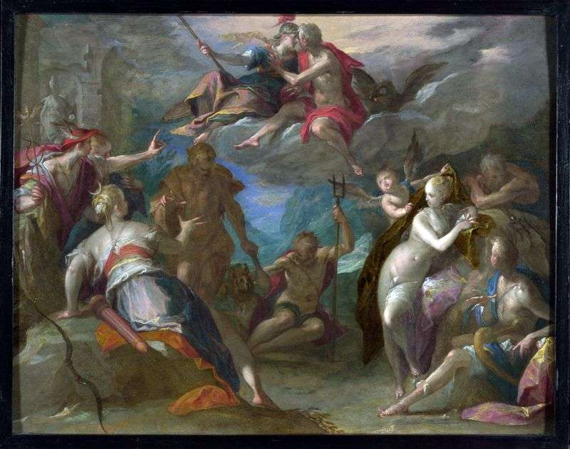 The amazement of the gods by Hans von Aachen