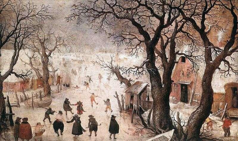 Winter in the city by Hendrik Averkamp