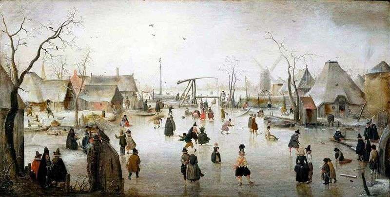 Ice city by Hendrik Averkamp