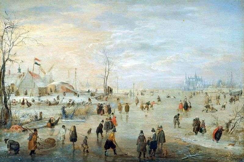 Ice land by Hendrik Averkamp