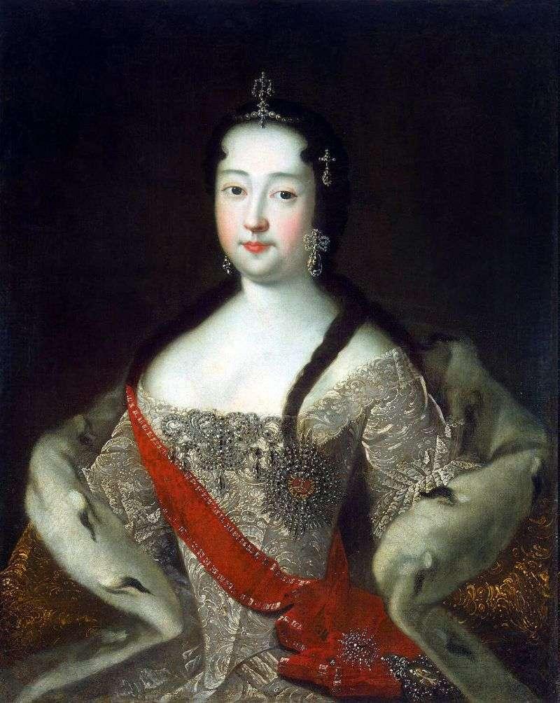 Portrait of Princess Anna Petrovna by Adolsky Ivan Nikolayevich