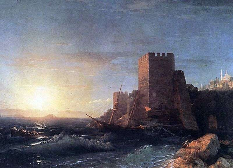 Tower on the Bosphorus Rock by Ivan Aivazovsky