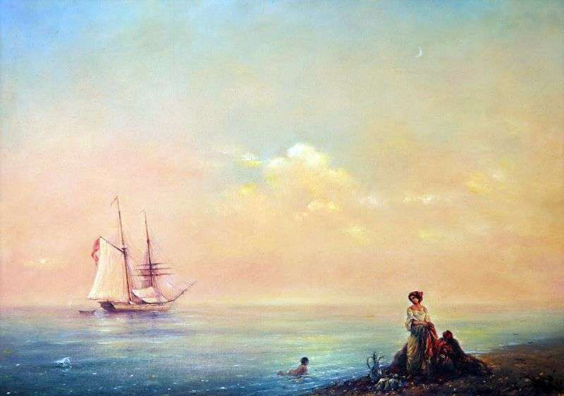 Sea shore. Shtil by Ivan Aivazovsky