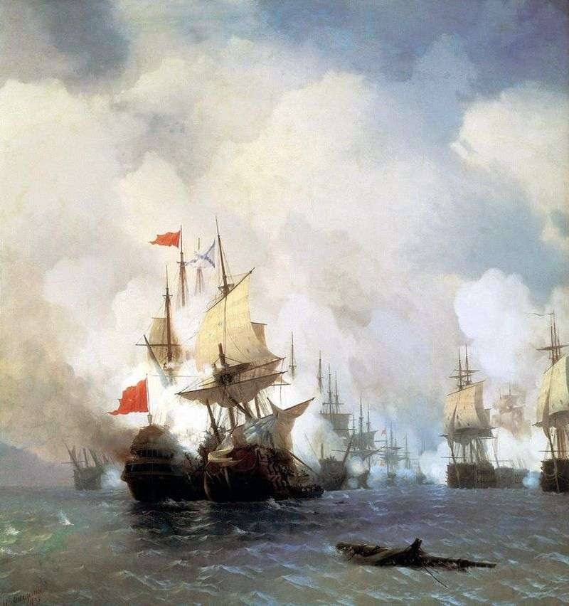 Fight in the Chios Strait June 24, 1770 by Ivan Aivazovsky