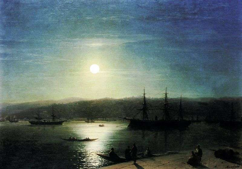 The Bosphorus in the Moonlit Night by Ivan Aivazovsky