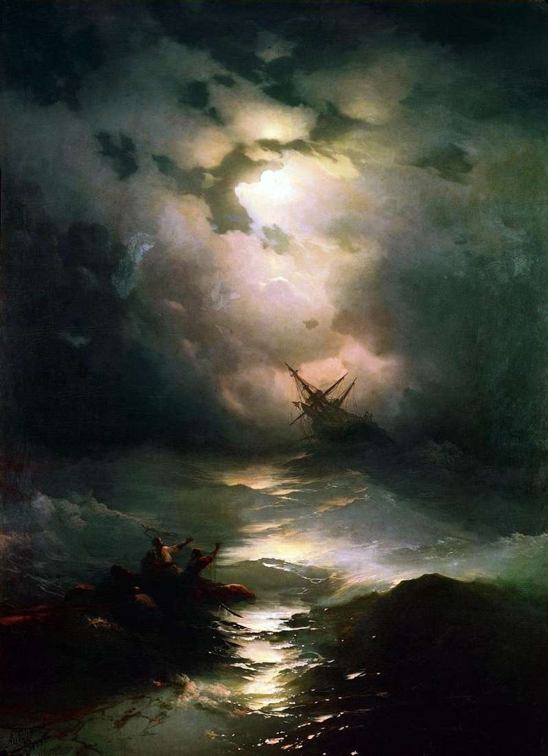 Storm on the North Sea by Ivan Aivazovsky