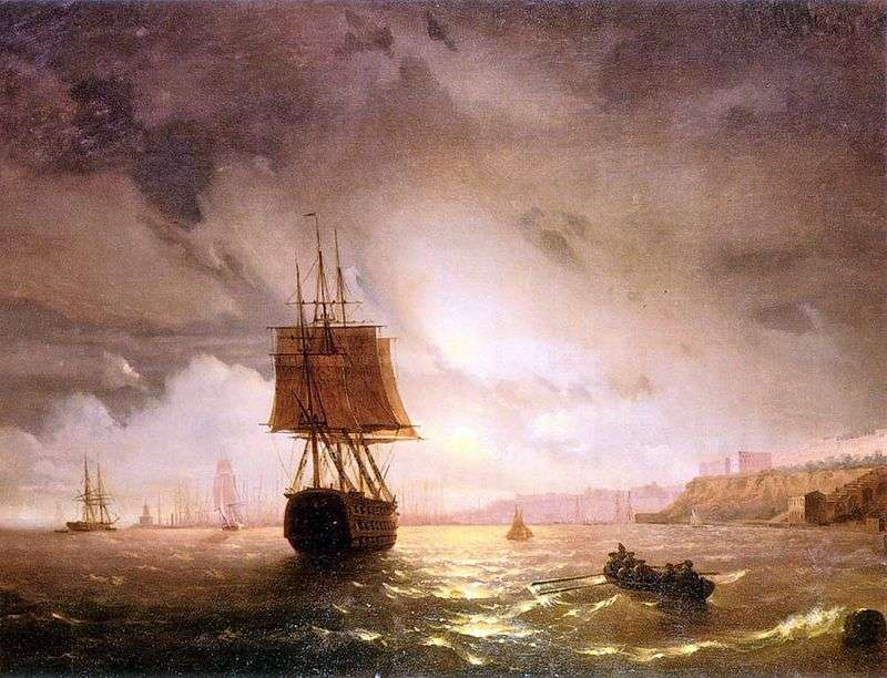 Bay in Odessa, the Black Sea by Ivan Aivazovsky