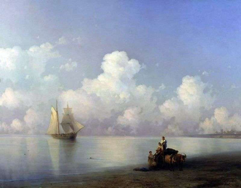Evening at the Sea by Ivan Aivazovsky