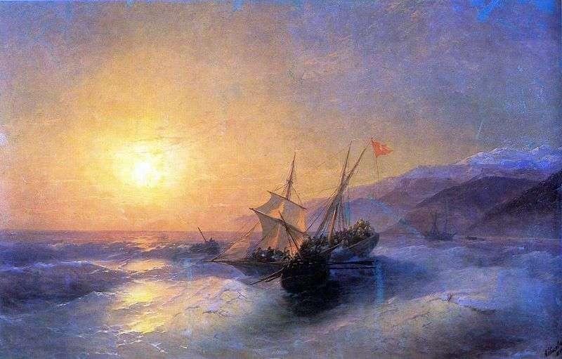 Taking Russian sailors of the Turkish kocherma by Ivan Aivazovsky