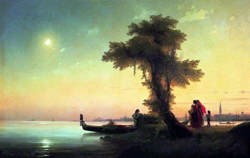 View of the Venetian lagoon by Ivan Aivazovsky