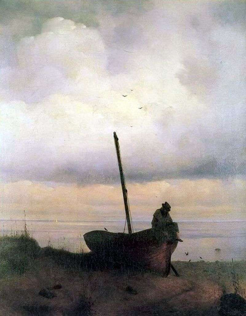 View of the seashore in the vicinity of St. Petersburg by Ivan Aivazovsky