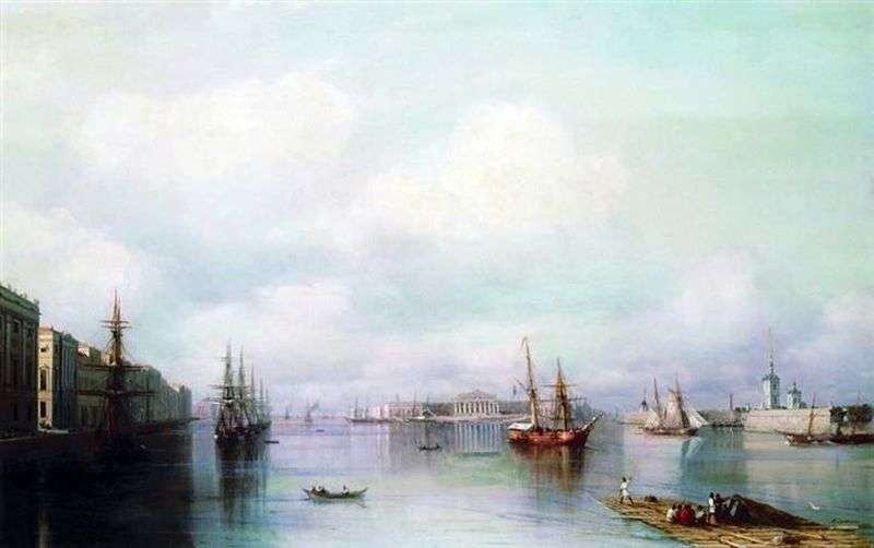 View of St. Petersburg by Ivan Aivazovsky