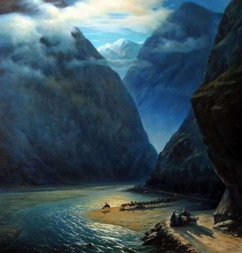 Daryal Gorge by Ivan Aivazovsky