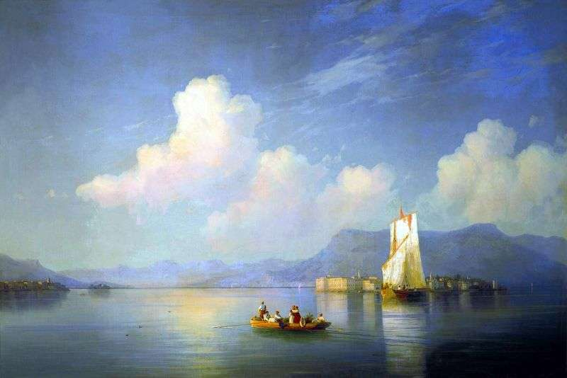 The Italian landscape. Evening by Ivan Aivazovsky