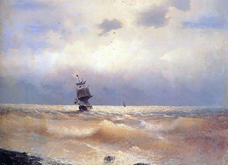 Ship near the shore by Ivan Aivazovsky