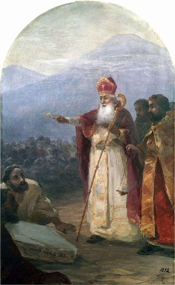 Baptism of the Armenian people. Grigory the Enlightener by Ivan Aivazovsky