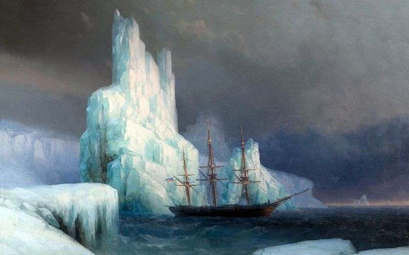 Ice mountains in Antarctica by Ivan Aivazovsky