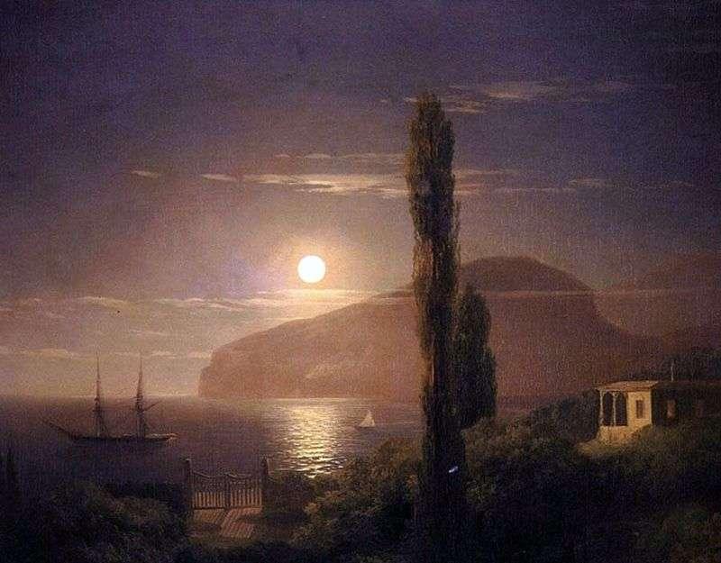 Moonlight night in Crimea by Ivan Aivazovsky