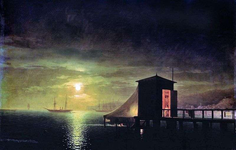 Moonlight night. Bath in Feodosia by Ivan Aivazovsky