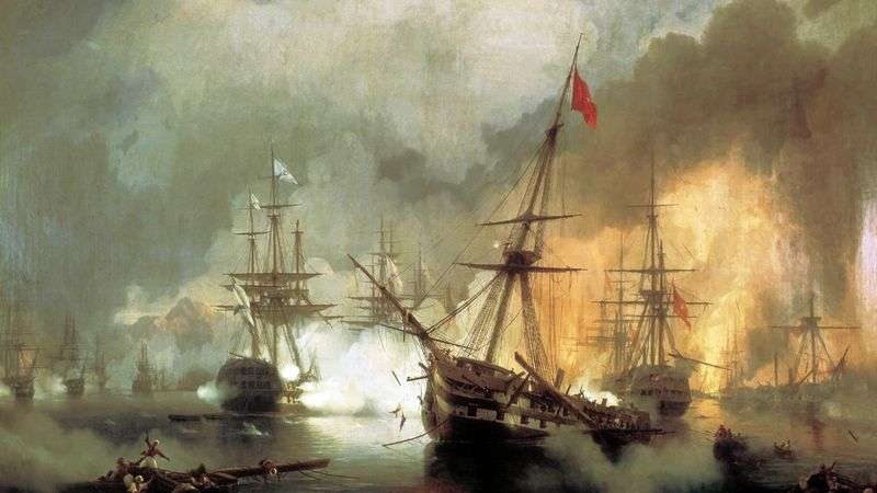 Naval Battle of Navarino October 2, 1827 by Ivan Aivazovsky