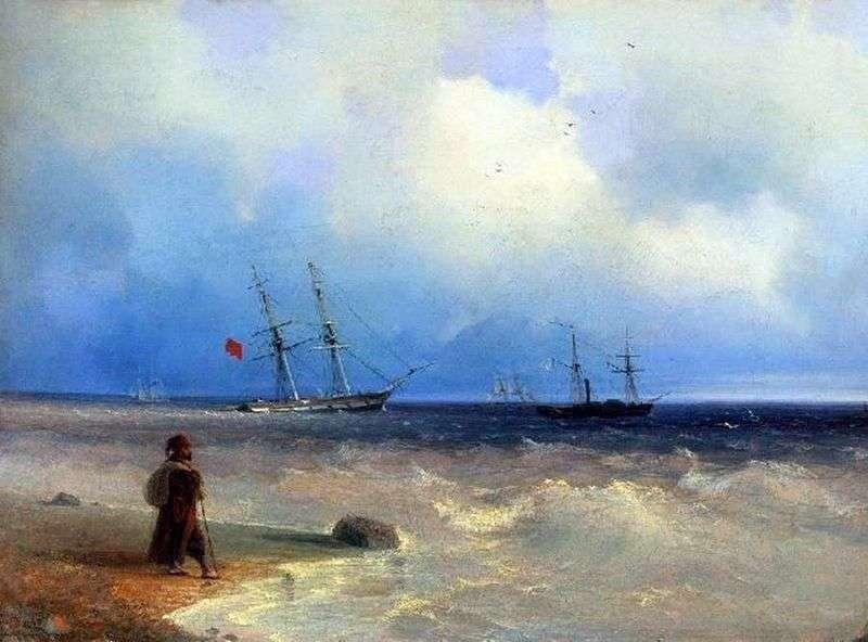 Sea shore by Ivan Aivazovsky
