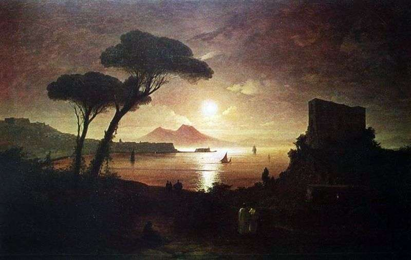 Neapolitan Bay in the moonlight by Ivan Aivazovsky