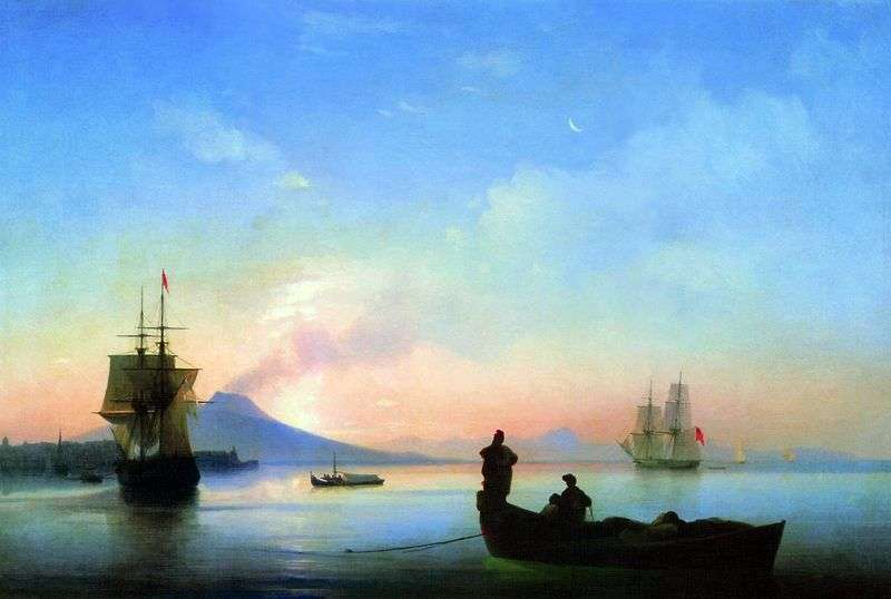 Neapolitan Bay in the morning by Ivan Aivazovsky